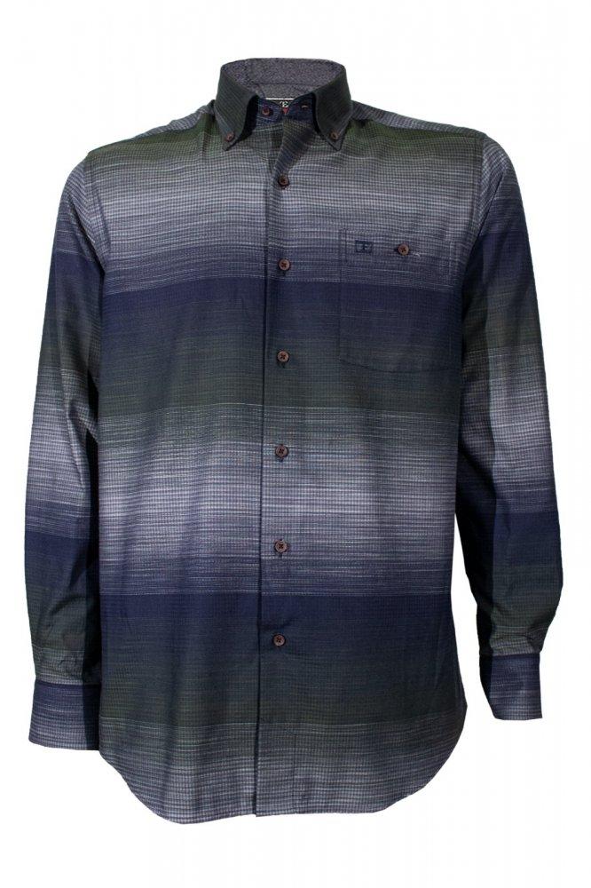 Gömlek %100 Pamuk Uzun Kol Klasik Kesim - 574 - 8