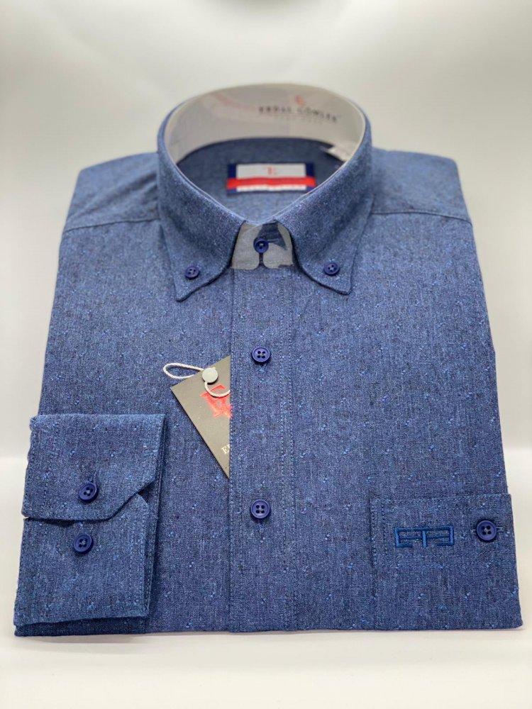 Kışlık Gömlek Koyu Mavi 752 - 8