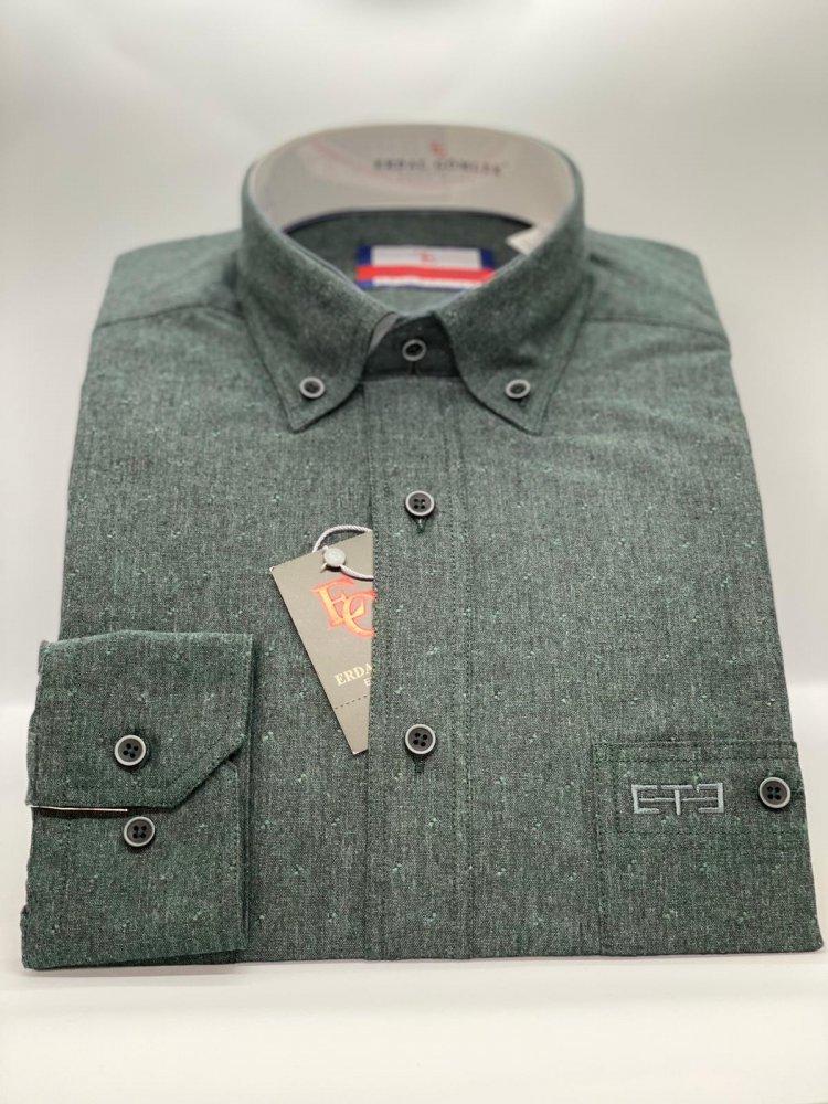 Kışlık Gömlek Koyu Yeşil 752 - 4