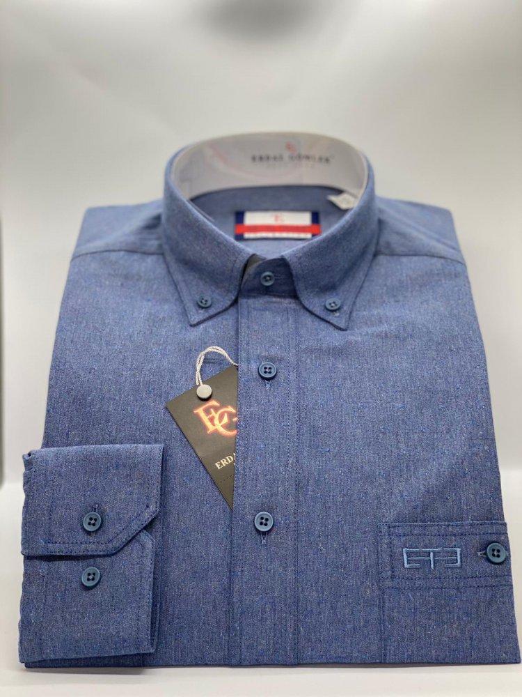 Kışlık Gömlek Mavi 752 - 9