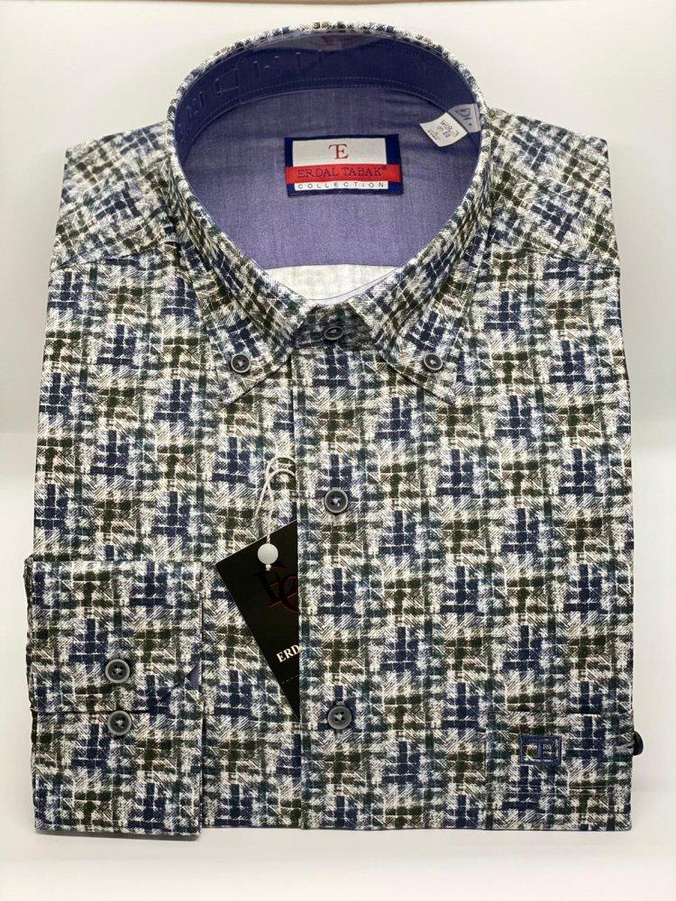 Pamuklu Özel İplik Uzun Kol Gömlek 574 - 2