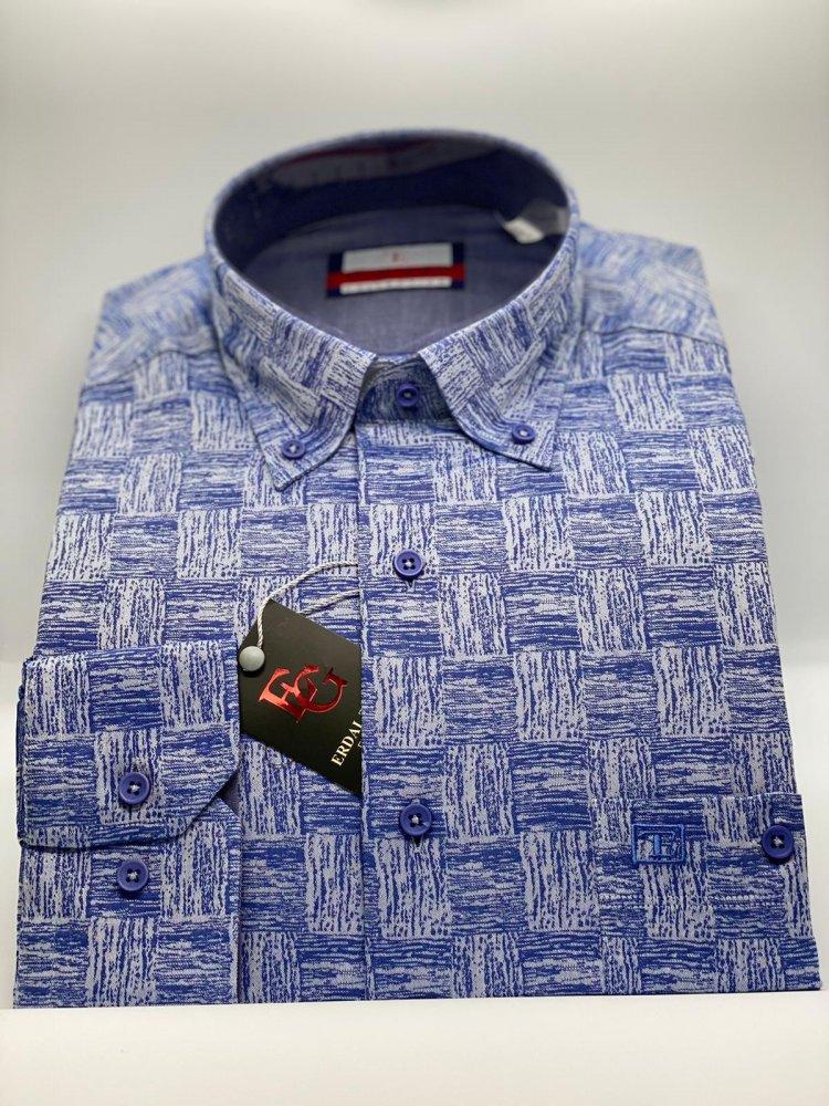 Pamuklu Özel İplik Uzun Kol Gömlek 574 - 4